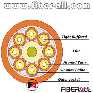 Binnen Kabel van de Optische Vezel van de Doorbraak 2.0mm Simplex binnen 2 Vezels