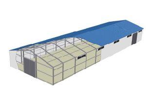 Taller de diseño profesional de la luz de la construcción de acero Estructura de acero