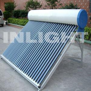 Aço cor aquecedor solar de água compacto sistema de produção interna de energia
