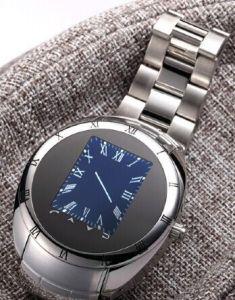 Handy der Uhr-W6, Handgelenk-Handy, Funk reiner Stahlder uhr-Handy-ultradünner wasserdichter Uhr-Handy-UnterstützungsCamera/MP3/QQ/Bluetooth