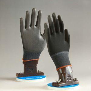 13 Handschoenen van de Veiligheid van de Voering van de Polyester van de maat de Zwarte Zwarte Pu Met een laag bedekte