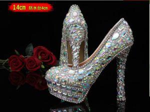 Nueva colección de diamantes de la boda zapatos de tacón alto damas