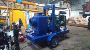 Alta capacidad de autocebado Motor Diesel Bomba de basura con remolque