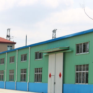 Vorfabriziertstahlkonstruktion-Werkstatt mit grüner Stahlblech-Wand