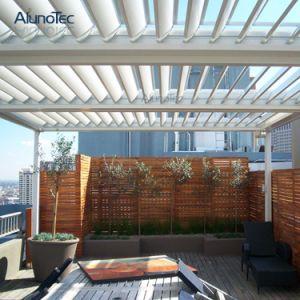 Estrutura de alumínio de exterior à prova de acabamento Pergola com Cortina