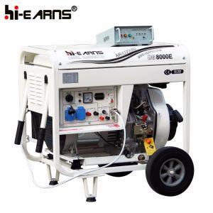 Luftgekühlter geöffneter Rahmen-Typ Dieselgenerator-elektrischer Anfang (DG8000E)