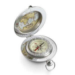 Estilo de relógios de bolso especial personalizada Compass