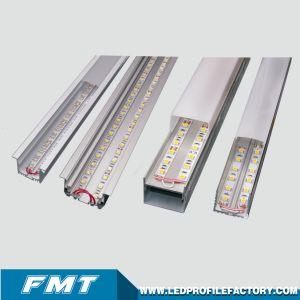 Perfil de extrusión de aluminio LED personalizados para el canal principal de la iluminación de oficina