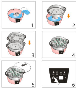 2017新しい設計されていた野菜蒸気の炊事道具