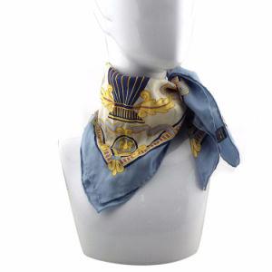 OEM большой экран Печать нескольких синего цвета шифона шелковые шарфы