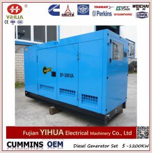 Jogo de gerador 30kVA/24kw Diesel silencioso elétrico da potência de Foton Isuzu (15-36kW)