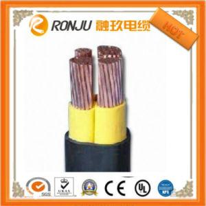 Пламя сопротивления медных ПВХ изоляцией стальной ленты бронированных ПВХ оболочку кабеля питания