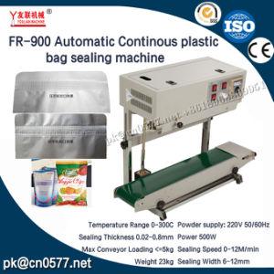 Bolsa de plástico continua fr-900 Máquina de sellado de bolsas de plástico