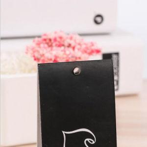 Baratos personalizados diseño plegable doble impresión Hang Tag