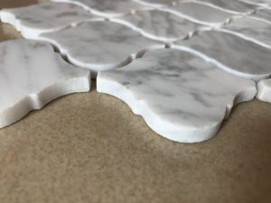 2017 Mozaïek van Carrara van de Lantaarn van Arabesque van de Groothandelsprijs het Witte Marmeren