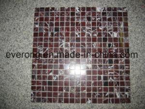 De opgepoetste Tegel van Backsplash van de Tegel van het Mozaïek van de Steen van de Travertijn van de Rode Kleur Marmeren voor Muur Backsplash