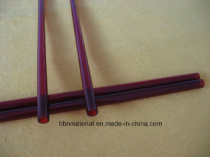 Tubo di vetro rosso di lucidatura di vendita caldo del quarzo