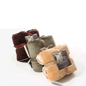 Logotipo personalizado portátil franela moda Sherpa arrojar una manta de lana