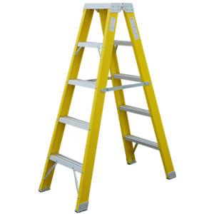 A dupla estrutura a 3 etapa Isolamento Loft escada dobrável e fibra de dobragem da escada do agregado