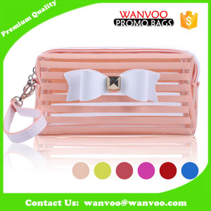 Sac imperméable à l'eau transparent de renivellement de sac cosmétique de Madame Clear PVC de mode