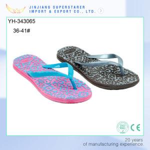 Funky EVA Lady Flip Flops avec de belles semelle de propreté de l'impression