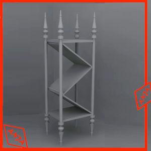 Présentoir en métal en acier inoxydable de dispositif d'affichage