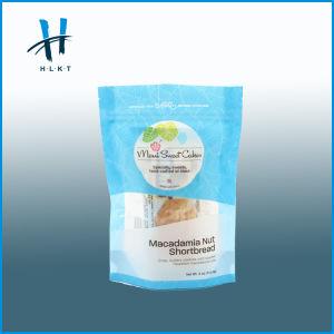 Fermeture à glissière Bio-Degradable Stand up sac d'emballage alimentaire en plastique