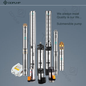 4 pulgadas de 35 grados centígrados centrifugas sumergibles bombas de agua (4DS2/8)