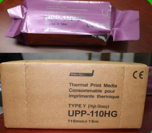 Ultra-sonografia térmica, rolo de papel para impressora de vídeo Sony (UPP-110HG)