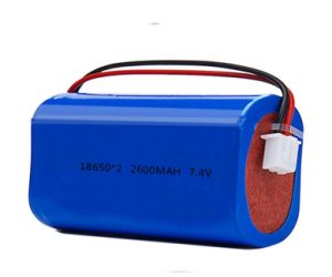Li 이온 재충전 전지는 확성기를 위한 7.4V 2600mAh 18650를 포장한다