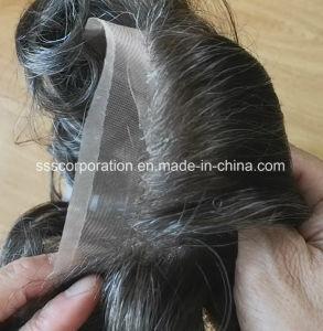 Le plus naturel de la Dentelle de New York (soudé mono) Hommes Cheveux humains