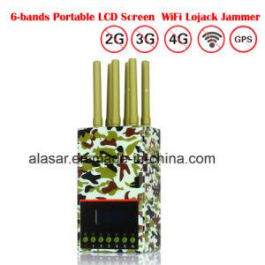 6 Handbediende LCD van antennes Vertoning GPS + de Mobiele Stoorzenders van het Signaal
