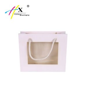 Arte Hot-Selling bolsa de cosméticos personalizados de papel con ventana