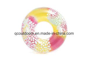 Hot Sale fleurs imprimées piscine gonflable de flottement de l'anneau de natation