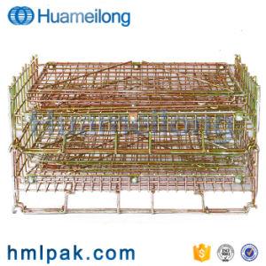 ヨーロッパの耐久のFoldable金属ペットプレフォームの記憶の金網のバスケット