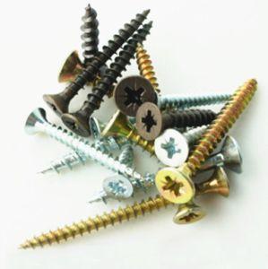 Tornillo de punta de aguja de cabeza avellanada galvanizado amarillo el tornillo de aglomerado