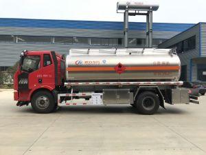 FAW 4*2 180HP 58000litersのアルミニウムオイルか燃料またはディーゼルタンクトラック