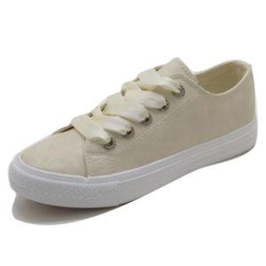 Suela de caucho vulcanizado Moda Mujer Zapatos de lona Km180605-12