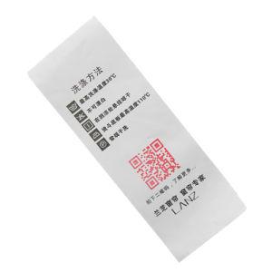 도매 의복 백색 짠것이 아닌 인쇄된 배려 레이블