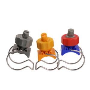 Пластмассовый плоский шаровой опоры вентилятора блока зажима форсунки для распыления металлических Phosphating обезжиривание