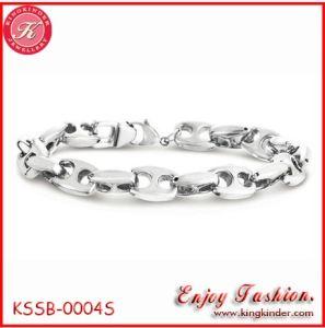 Armband Steel/Titanium van de Bonen van de koffie de Roestvrije voor Mensen (kssb-0004S)