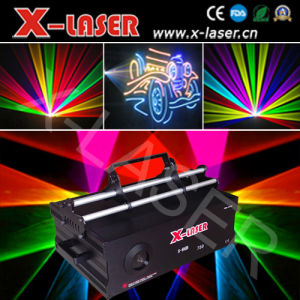 3Dレーザー光線の多色刷りの高い発電DJの軽い段階ライトレーザーProjecotr