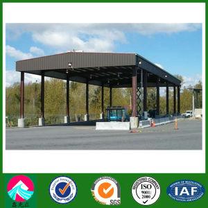 Estructura de acero de la estación de llenado de gas/gasolina edificio de la estación
