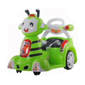 Passeio dos miúdos de China no carro de controle remoto do brinquedo