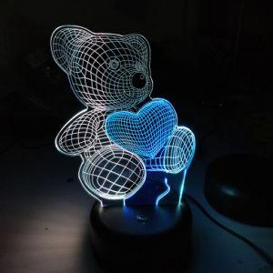 クリスマスの昇進のギフトの習慣3D創造的なライトLED錯覚夜ランプ