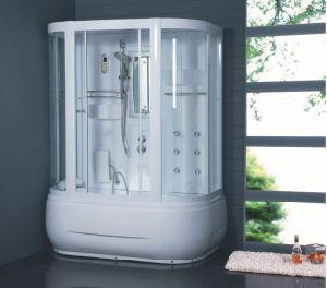 Sala de ducha baño de vapor con panel táctil de control