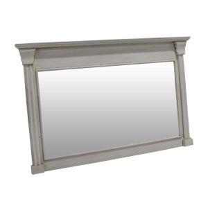 Specchio rettangolare incorniciato bianco della parete di vanità del supporto della parete della grande stanza da bagno