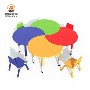 As crianças de altura ajustável conjunto de móveis mesa e cadeira Mobiliário escolar para crianças