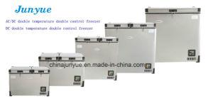 Scd-48L DC Doubletemperature de acero inoxidable con fondo plano arcón congelador