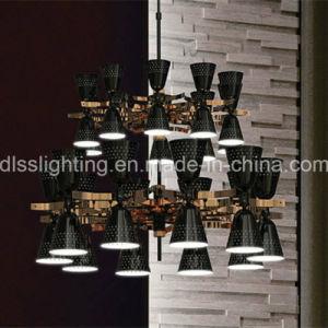 Modernes Iron& Aluminium, das hellen doppelten Kegel-Luxuxleuchter hängt